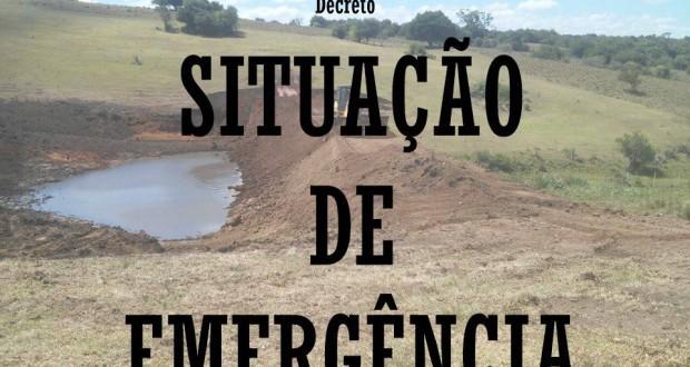 PREFEITURA MUNICIPAL DECRETA SITUAÇÃO DE EMERGÊNCIA NA ÁREA RURAL DO MUNICÍPIO.