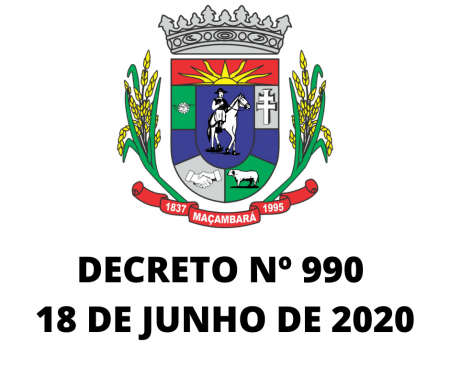 Decreto Nº 990, de 18 de junho de 2020